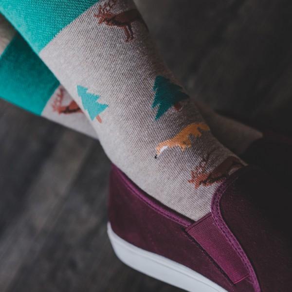 FOREST - kolorowe skarpety męskie