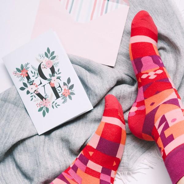 VALENTINES - kolorowe skarpety męskie