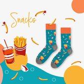 Była sałatka, sushi to teraz czas na frytki! Te trzy wzory znajdziecie u nas w kilku kolorach 🙌🏻 . . . . #moresocks #socks #skarpetki #frytki #fries #fastfood #cola #design #kolor #color #snacks